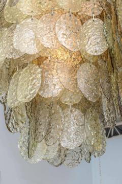 Mazzega Murano Monumental Italian Modern Amber Glass Chandelier by Mazzega - 364166