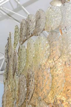 Mazzega Murano Monumental Italian Modern Amber Glass Chandelier by Mazzega - 364167