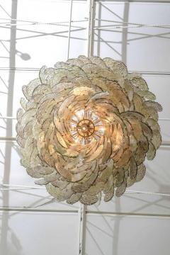 Mazzega Murano Monumental Italian Modern Amber Glass Chandelier by Mazzega - 364170