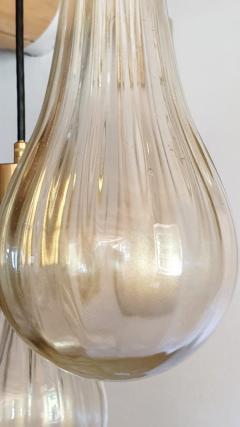Mazzega Murano Murano glass drop pendants Mid Century Modern chandelier Mazzega style 1970s - 1416013