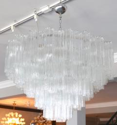 Mazzega Murano Pair of 1970s Tiered Mazzega Chandeliers - 286372