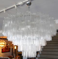 Mazzega Murano Pair of 1970s Tiered Mazzega Chandeliers - 286374