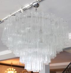 Mazzega Murano Pair of 1970s Tiered Mazzega Chandeliers - 286375