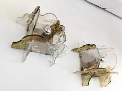 Mazzega Murano Pair of Sconces by Carlo Nason for Mazzega Murano Glass Italy 1970s - 523594