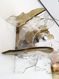 Mazzega Murano Pair of Sconces by Carlo Nason for Mazzega Murano Glass Italy 1970s - 523597