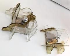 Mazzega Murano Pair of Sconces by Carlo Nason for Mazzega Murano Glass Italy 1970s - 523599