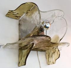 Mazzega Murano Pair of Sconces by Carlo Nason for Mazzega Murano Glass Italy 1970s - 523600