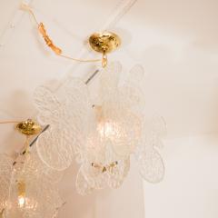 Mazzega Murano Translucent Biomorphic Shaped Ceiling Fixture by Mazzega - 368031