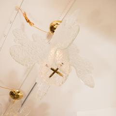 Mazzega Murano Translucent Biomorphic Shaped Ceiling Fixture by Mazzega - 368032