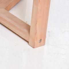 McGuire Furniture McGuire Simple Teak Round Side Table Triangular Base California 1990s - 1983440