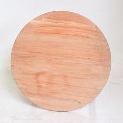 McGuire Furniture McGuire Simple Teak Round Side Table Triangular Base California 1990s - 1983442