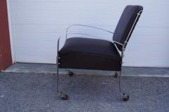 McKay Furniture Corp Chrome and Leather Armchair by McKay Furniture Company - 1606405