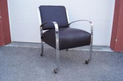 McKay Furniture Corp Chrome and Leather Armchair by McKay Furniture Company - 1606406