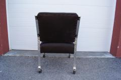 McKay Furniture Corp Chrome and Leather Armchair by McKay Furniture Company - 1606411