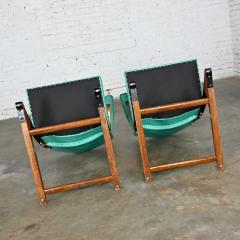 McKay Furniture Corp Turquoise vinyl faux leather spring rockers style of mckay furniture - 2072786