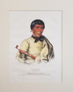 McKenney Hall Buffalo a Chippewa Chief Lithograph Portrait by McKenney Hall - 1171194