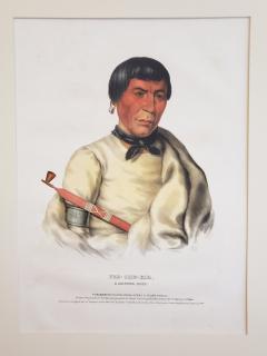 McKenney Hall Buffalo a Chippewa Chief Lithograph Portrait by McKenney Hall - 1171197