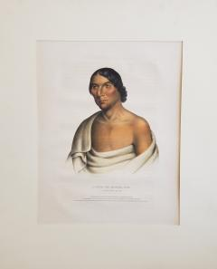 McKenney Hall Yellow Thunder a Chippewa Chief Lithograph Portrait by McKenney Hall - 1171142