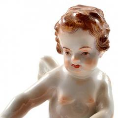 Meissen Antique Meissen Porcelain Figurine of a Cupid Holding an Arrow - 275131