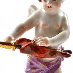 Meissen Antique Meissen Porcelain Figurine of a Cupid Holding an Arrow - 275132