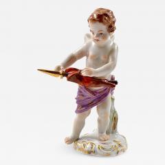 Meissen Antique Meissen Porcelain Figurine of a Cupid Holding an Arrow - 275549