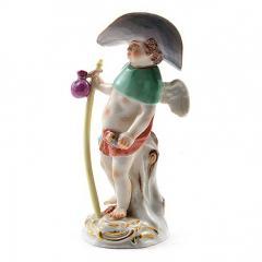 Meissen Meissen Porcelain Figurine Cupid as a Wanderer - 176422