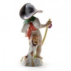 Meissen Meissen Porcelain Figurine Cupid as a Wanderer - 176423
