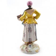 Meissen Meissen Porcelain Figurine Girl with a Basket of Baked Pretzels - 176500
