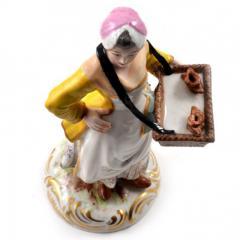 Meissen Meissen Porcelain Figurine Girl with a Basket of Baked Pretzels - 176502