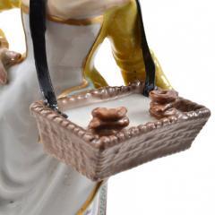 Meissen Meissen Porcelain Figurine Girl with a Basket of Baked Pretzels - 176505