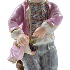 Meissen Meissen Porcelain Figurine of a Boy with Grapes - 176381