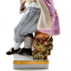 Meissen Meissen Porcelain Figurine of a Boy with Grapes - 176383
