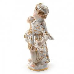 Meissen Meissen Porcelain Figurine of a Child Girl with a Cup - 176454