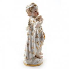 Meissen Meissen Porcelain Figurine of a Child Girl with a Cup - 176455