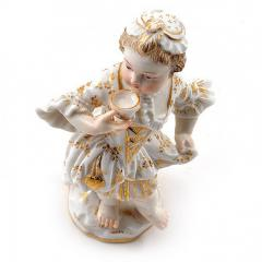 Meissen Meissen Porcelain Figurine of a Child Girl with a Cup - 176457