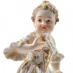 Meissen Meissen Porcelain Figurine of a Child Girl with a Cup - 176459