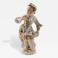 Meissen Meissen Porcelain Figurine of a Child Girl with a Cup - 176951