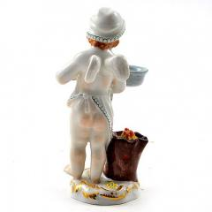Meissen Meissen Porcelain Figurine of a Cupid as a Cook - 176475