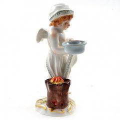 Meissen Meissen Porcelain Figurine of a Cupid as a Cook - 176476