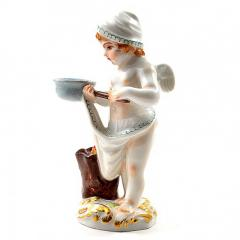 Meissen Meissen Porcelain Figurine of a Cupid as a Cook - 176477