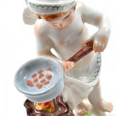 Meissen Meissen Porcelain Figurine of a Cupid as a Cook - 176479