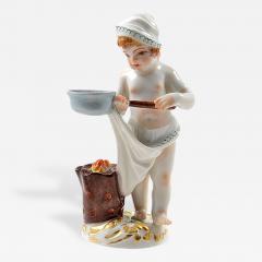 Meissen Meissen Porcelain Figurine of a Cupid as a Cook - 176952