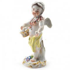 Meissen Meissen Porcelain Figurine of a Cupid as an Egg Seller - 176485