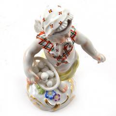 Meissen Meissen Porcelain Figurine of a Cupid as an Egg Seller - 176487