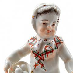 Meissen Meissen Porcelain Figurine of a Cupid as an Egg Seller - 176489