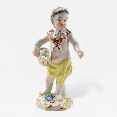 Meissen Meissen Porcelain Figurine of a Cupid as an Egg Seller - 176953