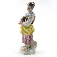 Meissen Meissen Porcelain Figurine of a Girl with a Book - 176406