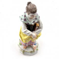 Meissen Meissen Porcelain Figurine of a Girl with a Book - 176407