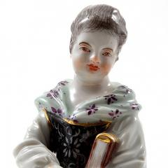 Meissen Meissen Porcelain Figurine of a Girl with a Book - 176409