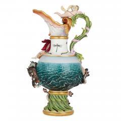 Meissen Porcelain Manufactory 19th Century Meissen Porcelain Water Elemental Ewer - 1913709